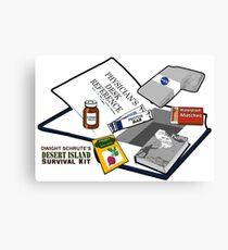 Desert Island Survival Kit Canvas Print