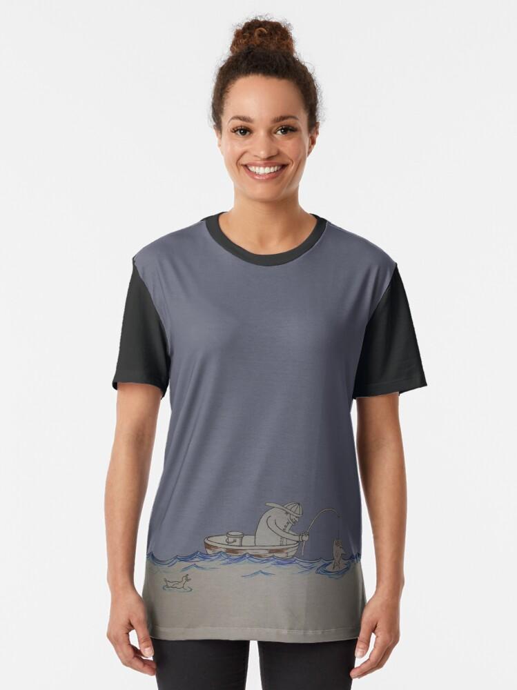 Alternate view of The Fisherman Graphic T-Shirt