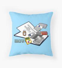 Desert Island Survival Kit Throw Pillow