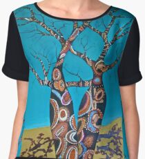 BOAB TREES with Aboriginal theme Women's Chiffon Top