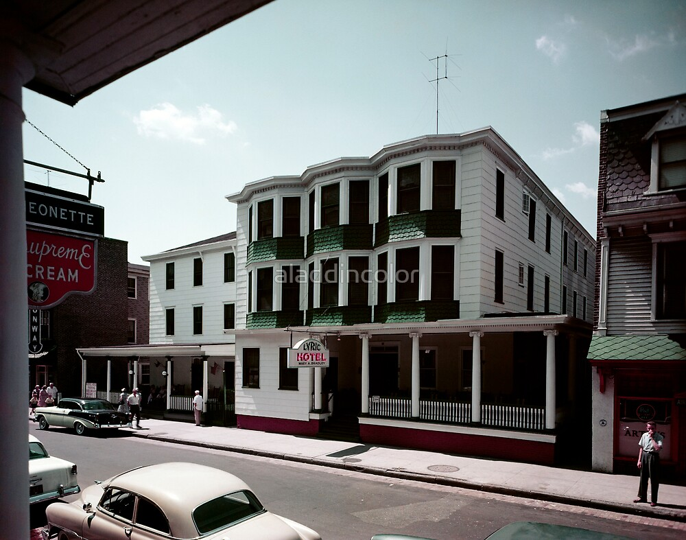 Lyric Hotel in the 1950's. Great old cars. by aladdincolor
