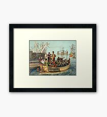 First Voyage of Christopher Columbus Framed Print