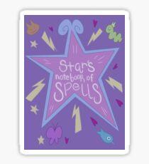 Star's Notebook of Spells Sticker