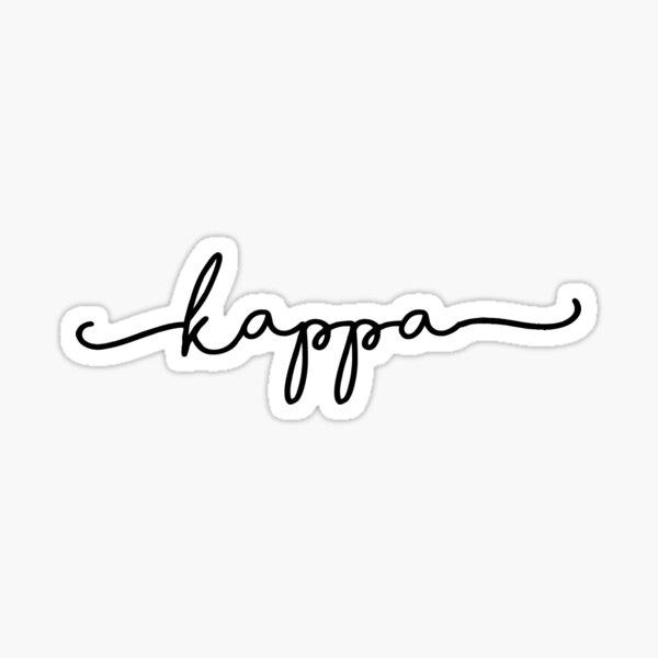 Cute Black Kappa Script Sticker