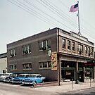 Degnan Chevrolet Auto Dealership Exterior 1950's by aladdincolor