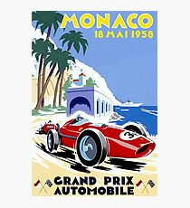 MONACO; Vintage Grand Prix Auto Racing Print Photographic Print