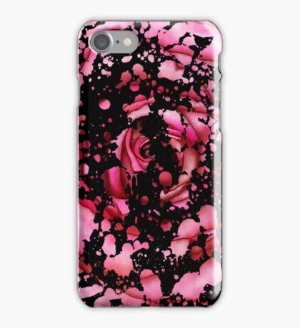 Pink Splatter rose iPhone Case/Skin
