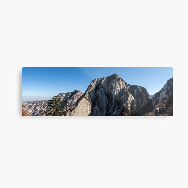 Mount Huashan Metal Print