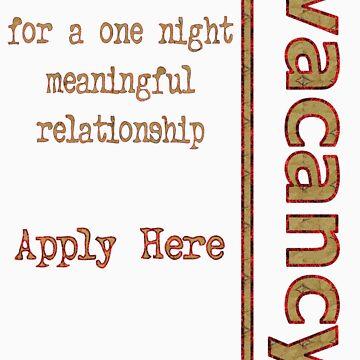 One Night Vacancy - Design 2 by ZalSaadi