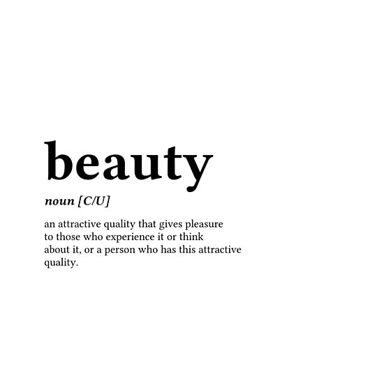 Definition of beauty