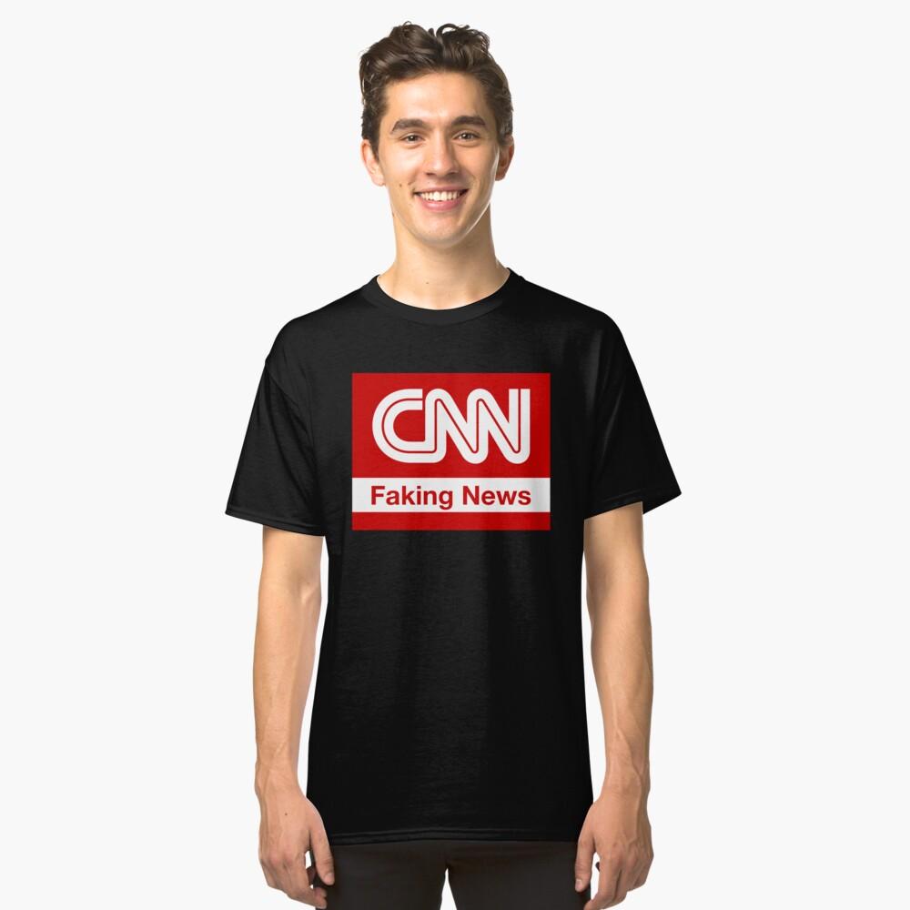 CNN Faking News Classic T-Shirt Front
