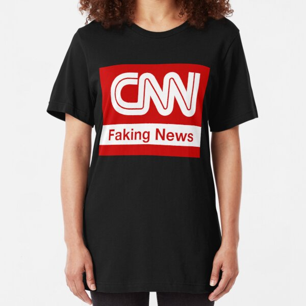 CNN Faking News Slim Fit T-Shirt