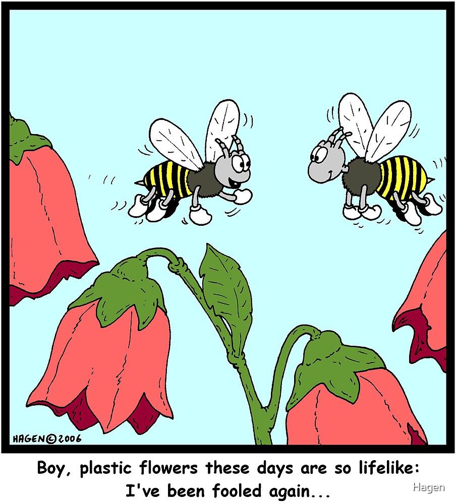 Plastic Flowers by Hagen
