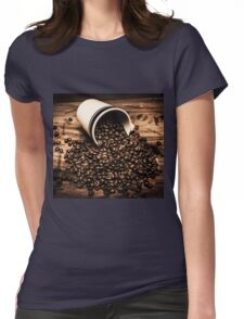 Coffee bar advertisement Womens Fitted T-Shirt