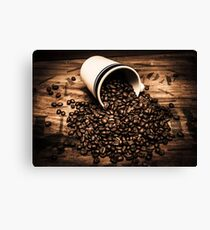 Coffee bar advertisement Canvas Print