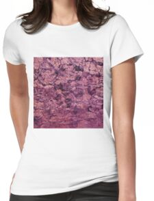 psychedelic grunge painting abstract texture in pink Womens Fitted T-Shirt