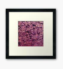 psychedelic grunge painting abstract texture in pink Framed Print