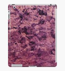 psychedelic grunge painting abstract texture in pink iPad Case/Skin