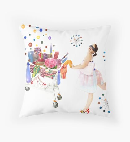always time to shop!! Throw Pillow