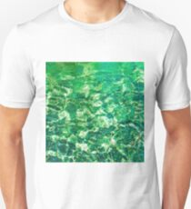 psychedelic painting texture abstract in green Unisex T-Shirt