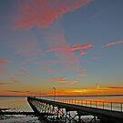 Ceduna Pier at Sunset by Richard  Windeyer