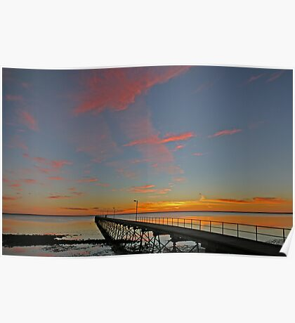 Ceduna Pier at Sunset Poster