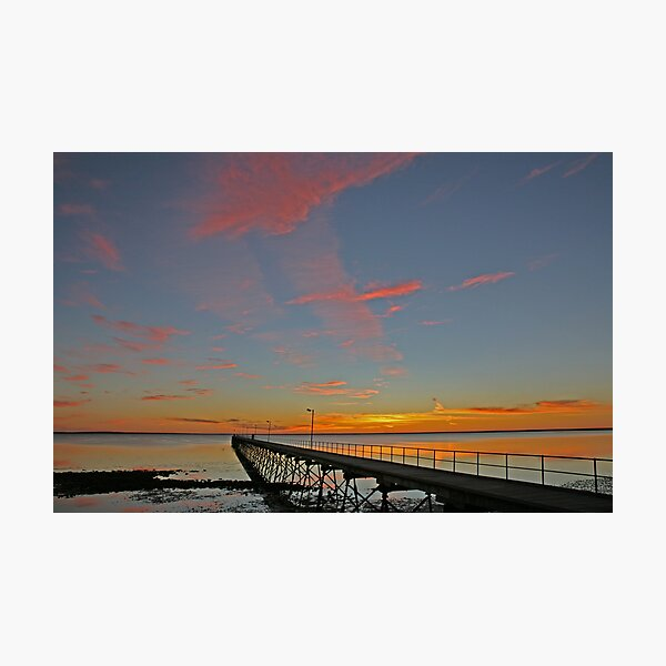 Ceduna Pier at Sunset Photographic Print