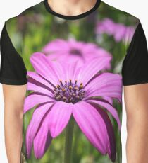 Side View Of A Purple Osteospermum With Garden Background Graphic T-Shirt