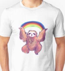Fluffy Rainbow Sloth T-Shirt