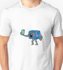 robot camera making selfie Unisex T-Shirt