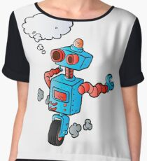 robot on wheel . Chiffon Top