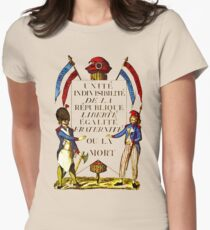 French Revolution Poster Womens Fitted T-Shirt
