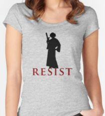 Star Wars Leia: Resist Color Women's Fitted Scoop T-Shirt
