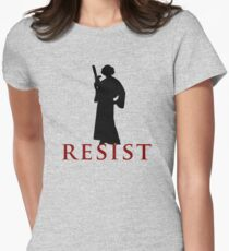 Star Wars Leia: Resist Color Womens Fitted T-Shirt