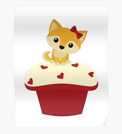 Red Velvet Pupcake Poster