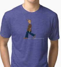 strolling down to the shop on a sunday morning Tri-blend T-Shirt