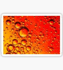 Red and Orange Coloured Oil on Water Abstract Sticker