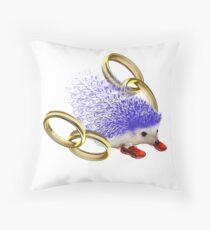 GOTTA GO FAST!! With Rings Version Throw Pillow
