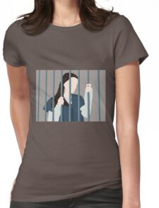 Lena Behind Bars Womens Fitted T-Shirt