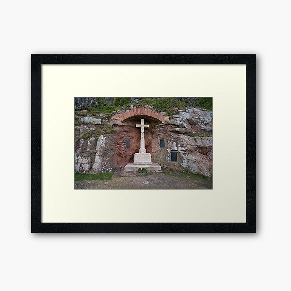 Bamburgh Memorial Framed Art Print