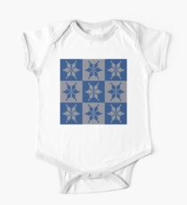 Knitted Snowflake Pattern One Piece - Short Sleeve