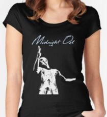 midnight oil Women's Fitted Scoop T-Shirt