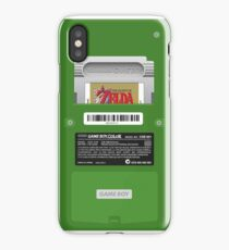 Green GameBoy Color Back - Link's awakening iPhone Case/Skin