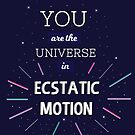 'You Are The Universe In Ecstatic Motion' by UzStore