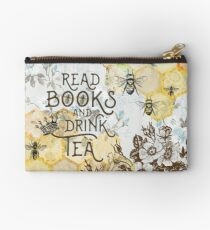 Bee Tea and Books  Studio Pouch