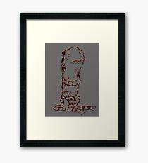 Alfie the Lonely Monster Framed Print