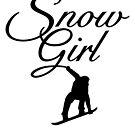 Snowgirl Après-Ski Snowboard Design  by theshirtshops