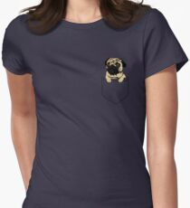Pocket Pug Women's Fitted T-Shirt