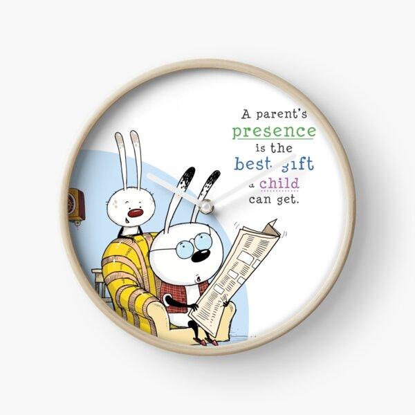 Rabbit and Dad Clock