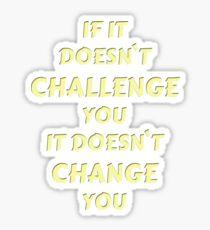 Challenge Statement Sticker